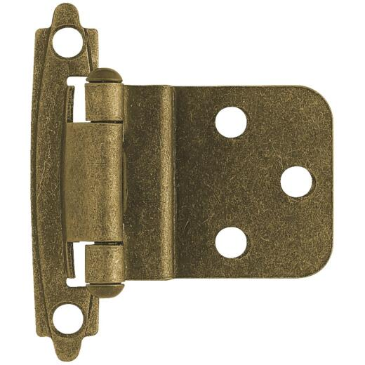 Liberty Burnished Antique Brass 3/8 In. Self-Closing Inset Hinge, (2-Pack)