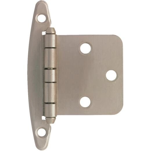 Liberty Satin Nickel Non Self-Closing Overlay Hinge (2-Pack)