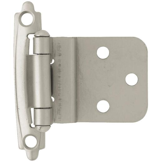 Liberty Matte Nickel 3/8 In. Self-Closing Inset Hinge, (10-Pack)