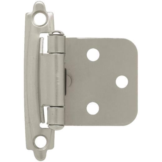 Liberty Satin Nickel Self-Closing Overlay Hinge (10-Pack)