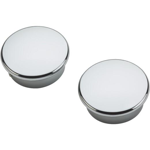 National Catalog V8602 Chrome Closet Rod End Caps (2-Count)