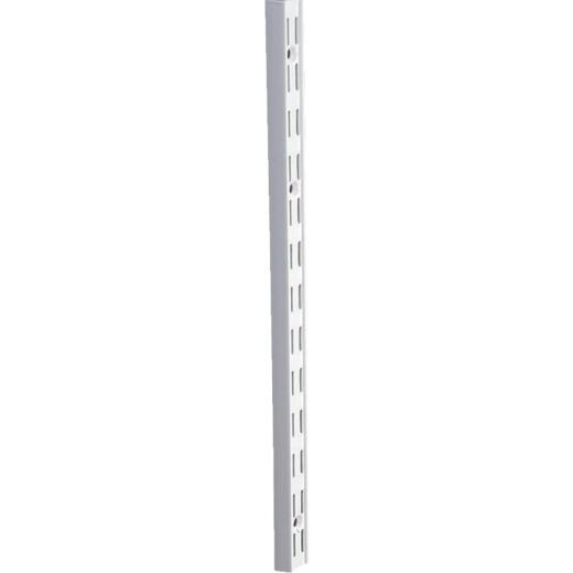 Knape & Vogt 82 Series 48 In. White Steel Heavy-Duty Double-Slot Shelf Standard