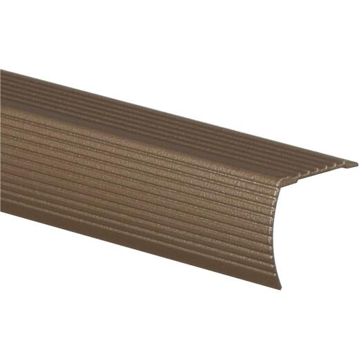 Frost King Satin Cocoa 1-1/8 In. W x 36 In. L Aluminum Stairnose