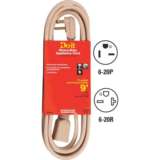 Do it 9 Ft. 12/3 20A Appliance & Air Conditioner Cord