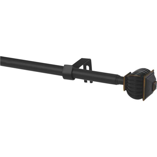 Kenney Beckett 28 In. To 48 In. 5/8 In. Oil Rubbed Bronze Standard Cafe Rod