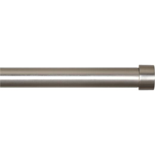 Umbra Cappa 72 In. To 144 In. 1-1/4 In. Single Curtain Rod, Nickel
