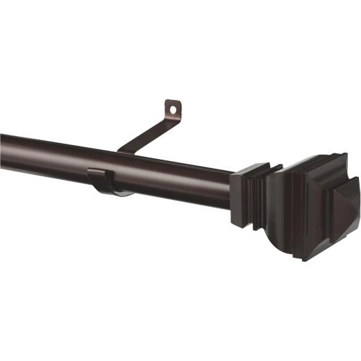 Kenney Riley 30 In. To 84 In. 1 In. Single Brown Curtain Rod