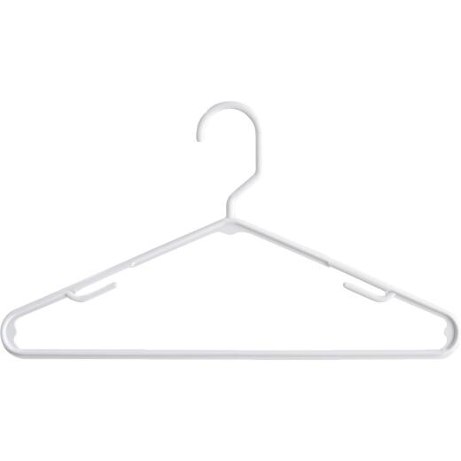 Homz Smart Solutions White Plastic Clothes Hanger (10-Pack)