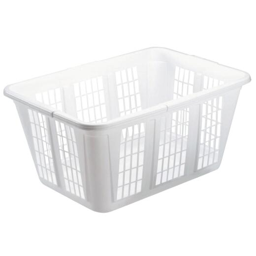 Rubbermaid White Smooth Laundry Basket