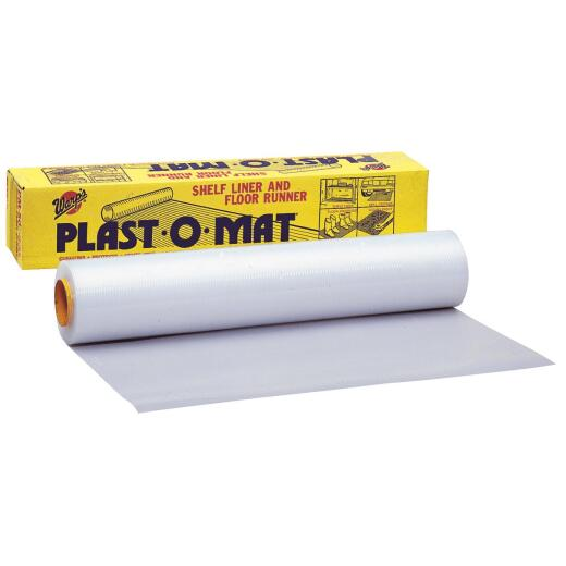 Plast-O-Mat 30 In. W x 50 Ft. L Clear Ribbed Floor Runner/Carpet Protector