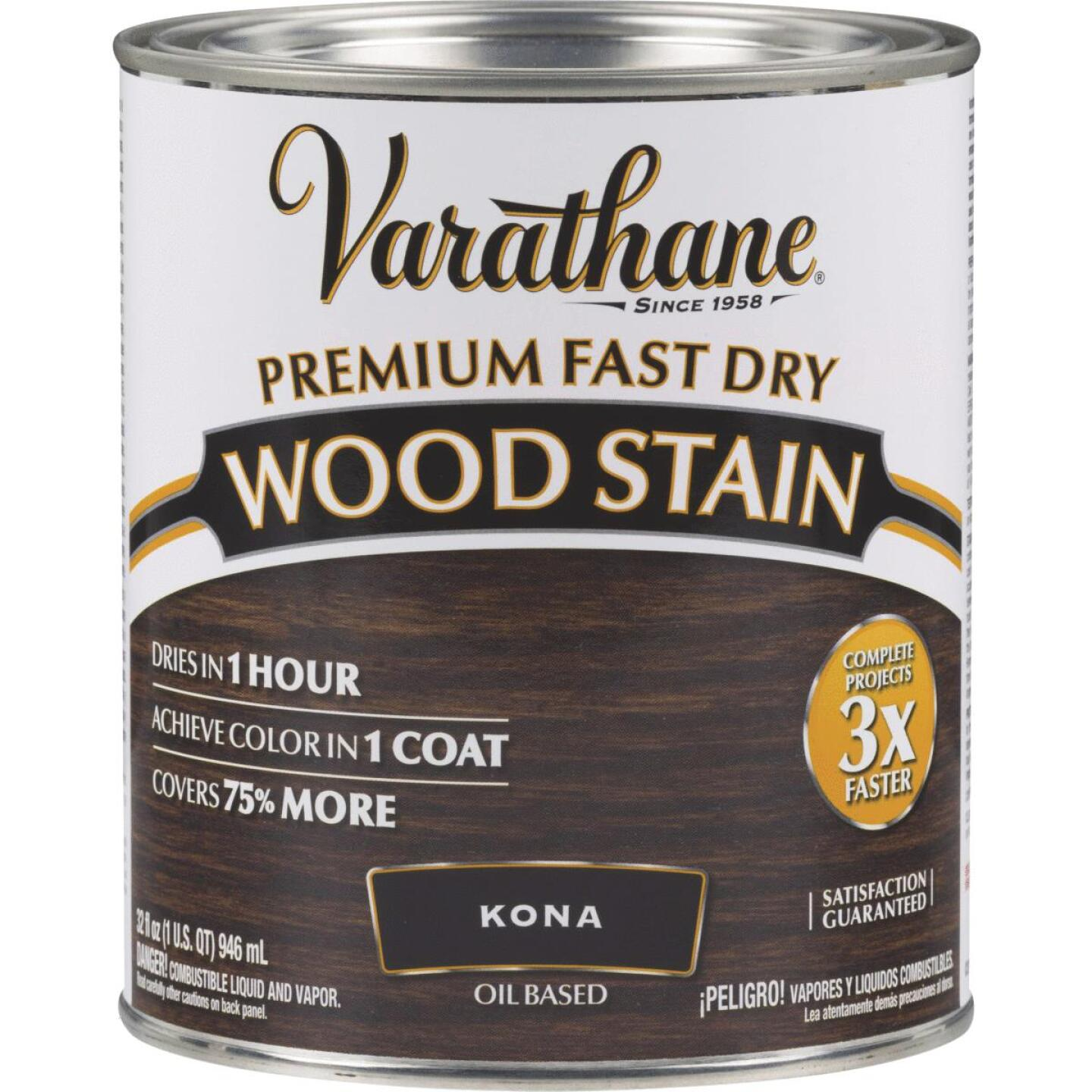 Varathane Fast Dry Kona Wood Urethane Modified Alkyd Interior Wood Stain, 1 Qt. Image 1