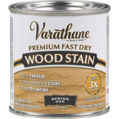 Varathane Fast Dry Spring Oak Urethane Modified Alkyd Interior Wood Stain, 1/2 Pt.
