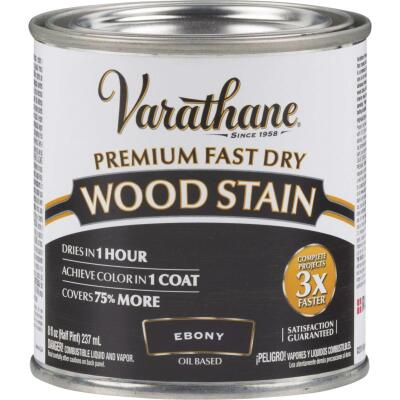 Varathane Fast Dry Ebony Wood Urethane Modified Alkyd Interior Wood Stain, 1/2 Pt.