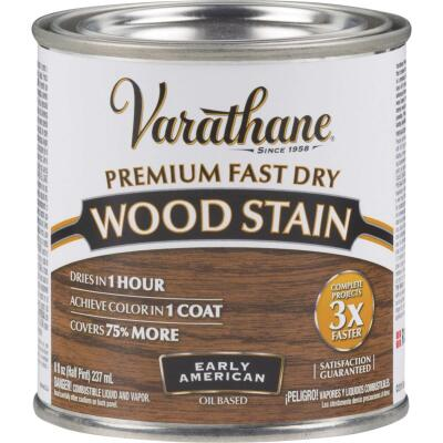 Varathane Fast Dry Early American Urethane Modified Alkyd Interior Wood Stain, 1/2 Pt.