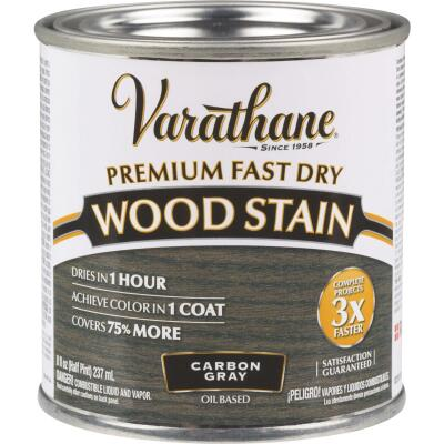 Varathane Fast Dry Carbon Gray Urethane Modified Alkyd Interior Wood Stain, 1/2 Pt.