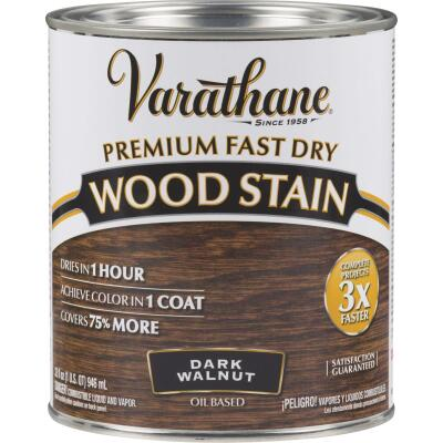 Varathane Fast Dry Dark Walnut Urethane Modified Alkyd Interior Wood Stain, 1 Qt.