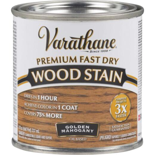 Varathane Fast Dry Golden Mahogany Urethane Modified Alkyd Interior Wood Stain, 1/2 Pt.