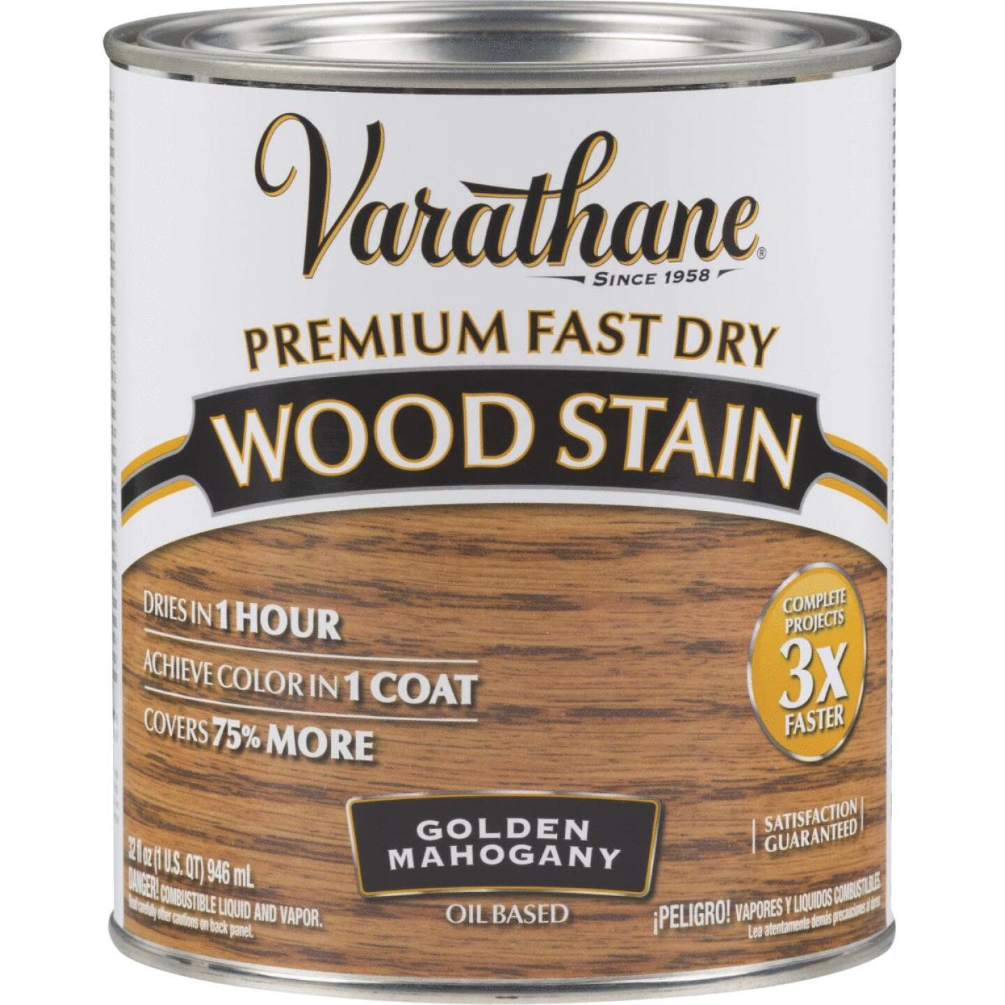 Varathane Fast Dry Golden Mahogany Urethane Modified Alkyd Interior Wood Stain, 1 Qt. Image 1