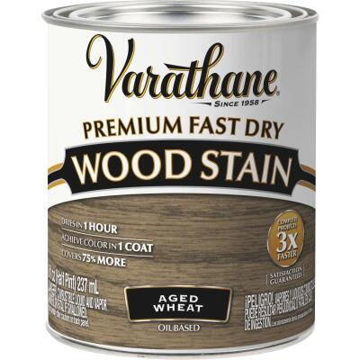 Varathane Fast Dry Aged Wheat Urethane Modified Alkyd Interior Wood Stain, 1/2 Pt.