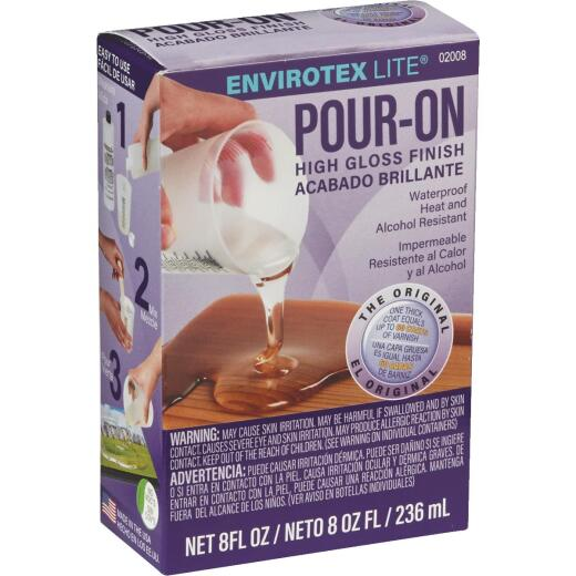 Envirotex Lite Pour-On 8 Oz. High-Gloss Finish